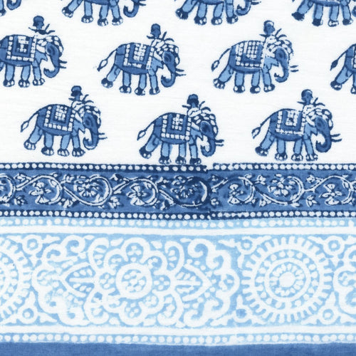 Hand Block Printed Scarf - Elephant