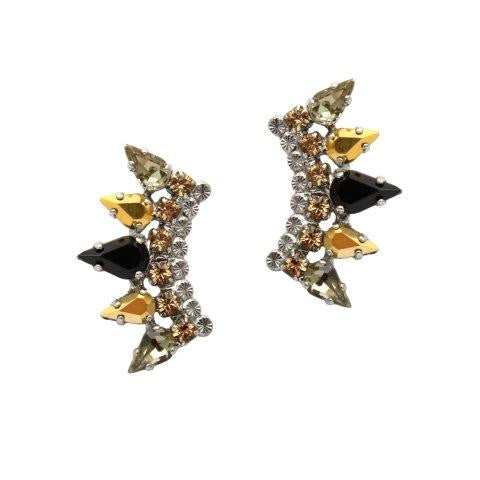Swarovski and Pyrite Ear Crawlers by AMARO
