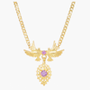 Dove Queen Necklace in Gold Plated Silver + Amethyst - By Ana Moura