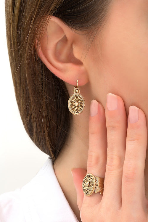 **PRE-ORDER** Elegant Gold Drop Earrings by Satellite Paris