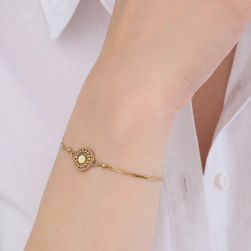 Dainty Gold Chain Bracelet by Satellite Paris