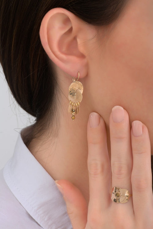 **PRE-ORDER** Intricate Gold and Beaded Drop Earrings by Satellite Paris