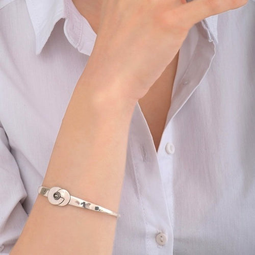 Chic Silver Cuff Bracelet by Satellite Paris