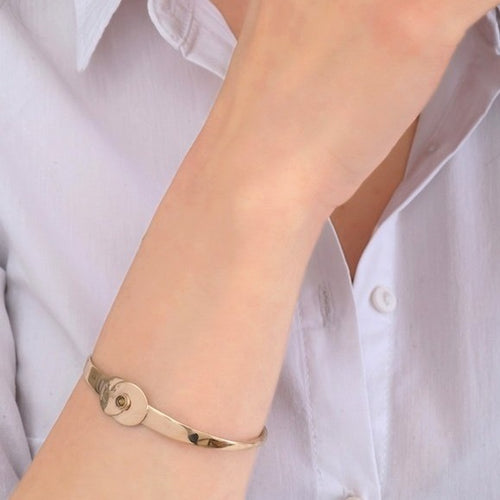 Chic Gold Cuff Bracelet by Satellite Paris