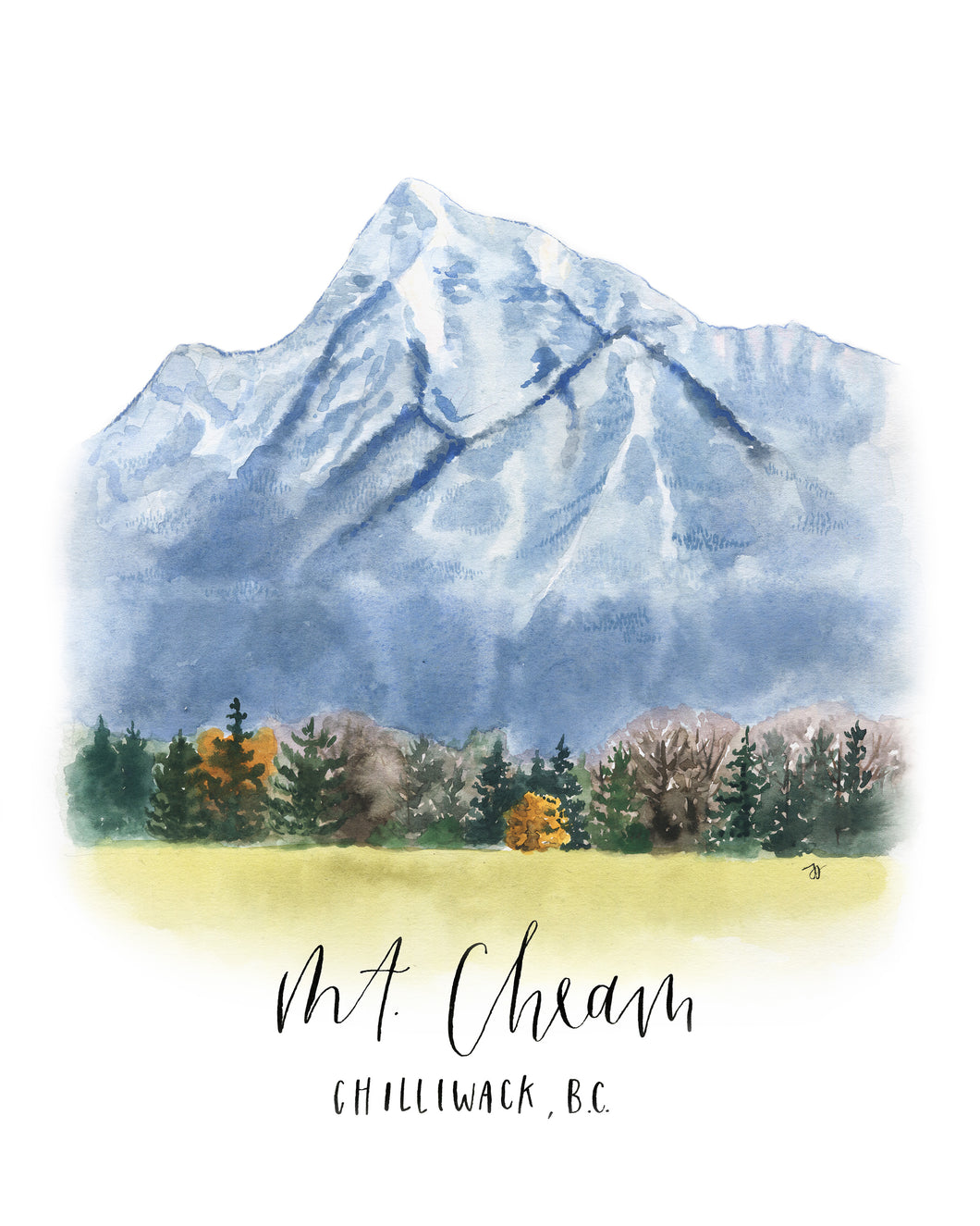 Mt. Cheam on bamboo paper