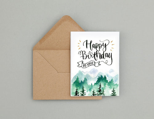 Forest Birthday card