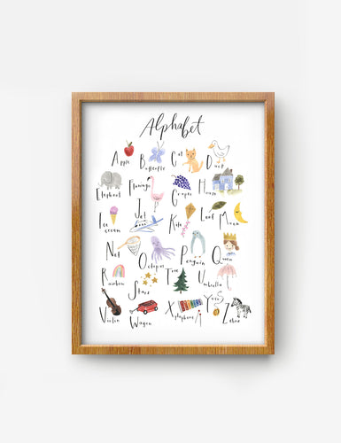 Alphabet prints on pearl photo paper