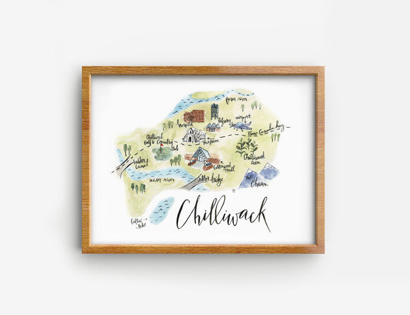 Chilliwack print on bamboo paper
