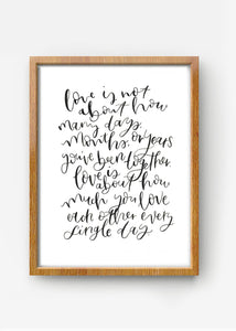 Love quote - bamboo paper
