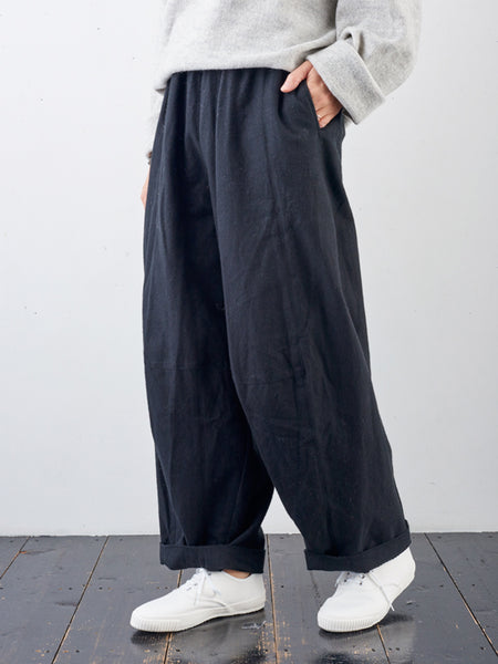 Solid Casual Pockets Pants