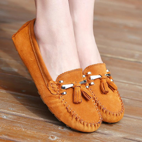 Women's Casual Tassel Flat Heel Loafers