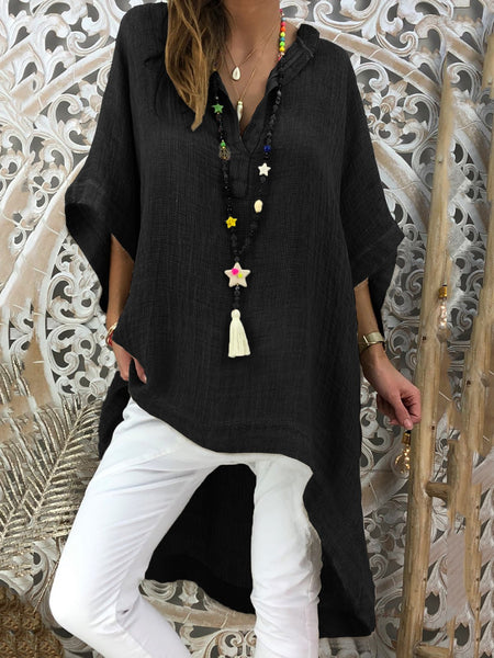 Casual V Neck Half Sleeve Shirts