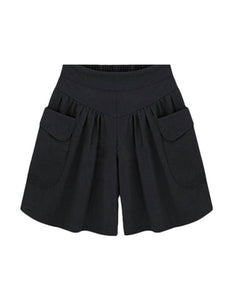 Plus Size Cotton Soild Colors Loose Soft Shorts Pants