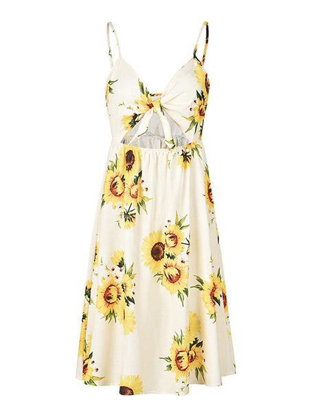 Sweet Sleeveless Casual Dresses