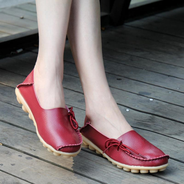 Round Toe Slip-On Bowknot Women Flats