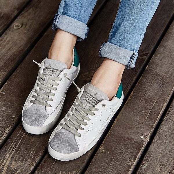 Lace-up Artificial Leather Flat Heel Daily Casual Shoes