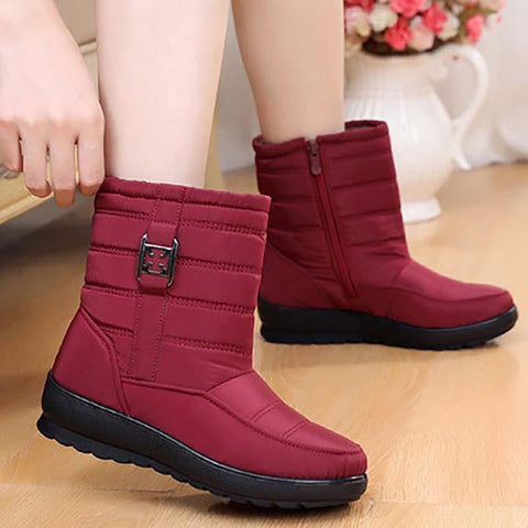 Black Zipper Casual Flat Heel Boots