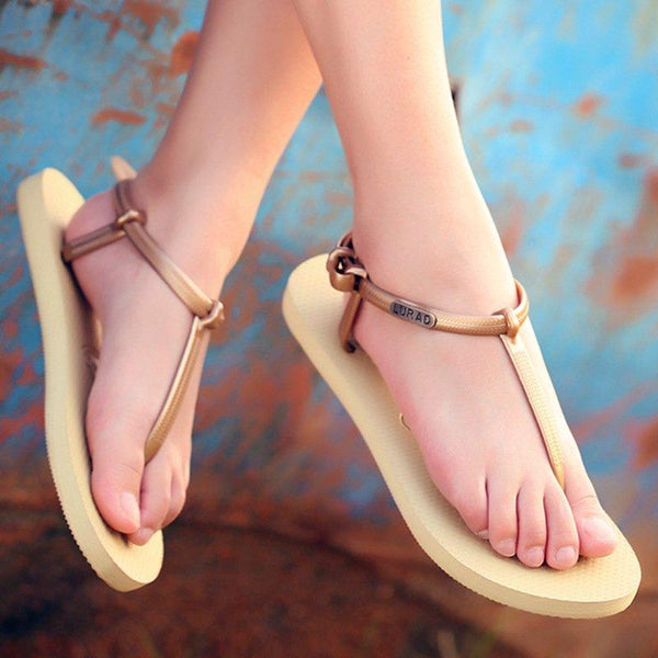 Holiday Summer T-Strap Buckle Gladiator Daily Sandals