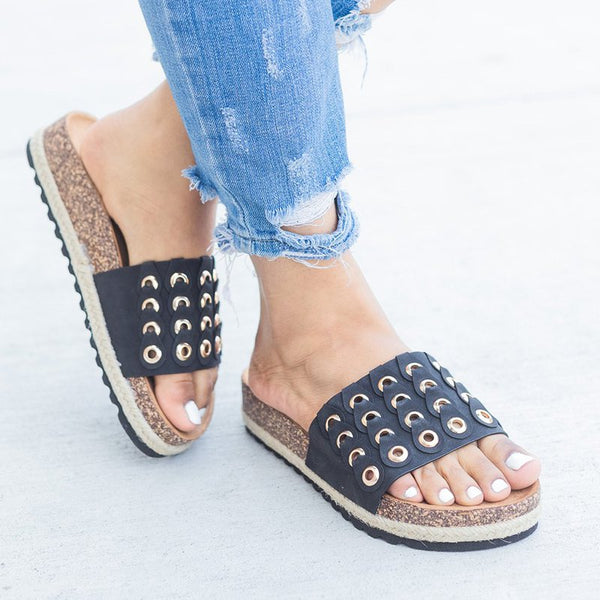Platform Summer Slides Slip-On Hollow-out Sandals
