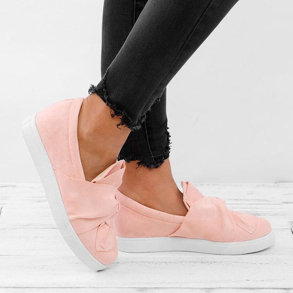 Blush Daily Flat Heel PU All Season Plus Size Sneakers