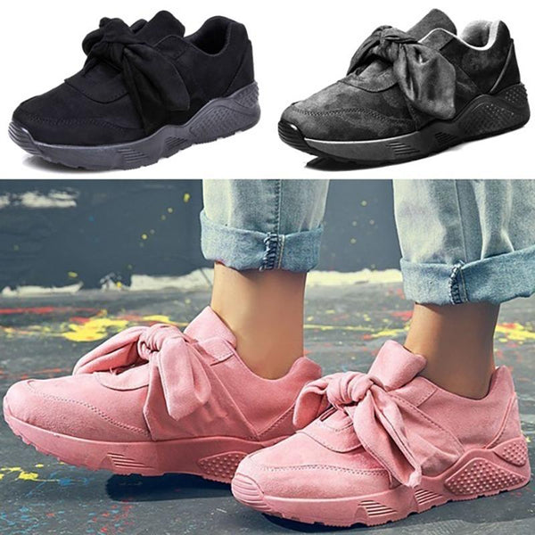 Pink Bowknot All Season Date Sneakers