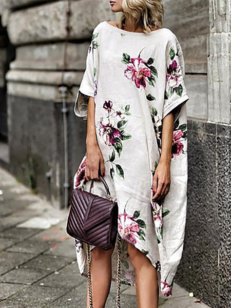 Shift Women Half Sleeve Printed Floral Dress