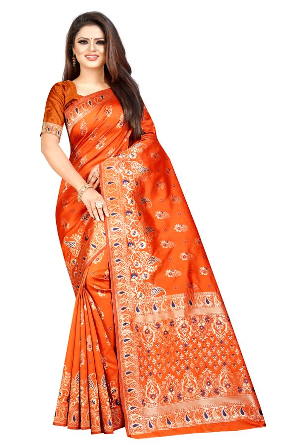 Silk Cotton Traditional Saree 9777 52