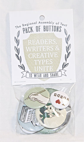 Pack of Buttons (Readers, Writers & Creative Types Unite)