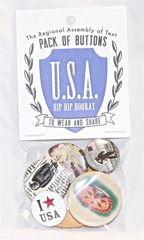 Pack of Buttons (U.S.A. Hip Hip Hooray)