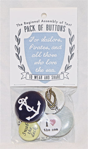 Pack of Buttons (For Sailors, Pirates and All Those Who Love the Sea)