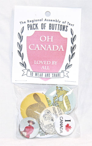 Pack of Buttons (Oh Canada)