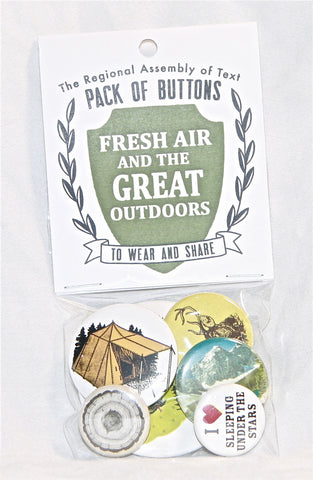 Pack of Buttons (Fresh Air and the Great Outdoors)