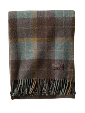 Thomas Kay Lambswool Throw - Shale Blue