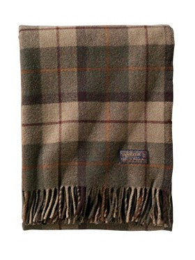 Thomas Kay Lambswool Throw - Peat Moss