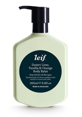 Leif Desert Lime, Vanilla & Orange Body Balm 8.8 fl. oz