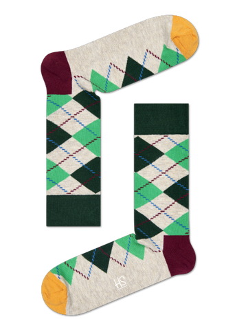 Argyle Sock - Grey