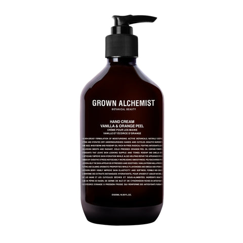 Grown Alchemist, Hand cream, Vanilla and Orange peel, 500ml, lukes drug mart, calgary, canada