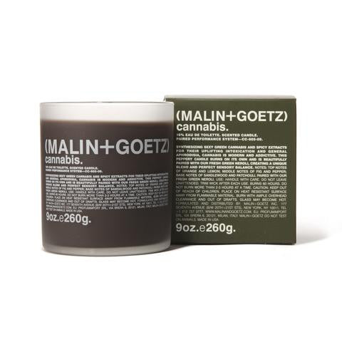 malin and goetz, lukes drug mart,cannabis candle, 9 ounce, 9oz, votive candle, votive, canada, calgary