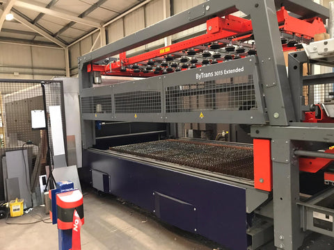 Bystronic for sale Bysprint Fiber 3015 With ByTrans Extended laser automation sheet loader twin fork removal compact cell