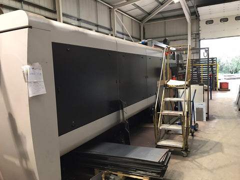 Bystronic for sale Bysprint Fiber 3015 With ByTrans Extended laser automation sheet loader twin fork removal compact cell used laser cutting machine for sale Australia