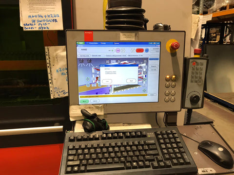 Bystronic for sale Bysprint Fiber 3015 With ByTrans Extended laser automation sheet loader twin fork removal compact cell used laser cutting machine for sale Australia Byvision controller