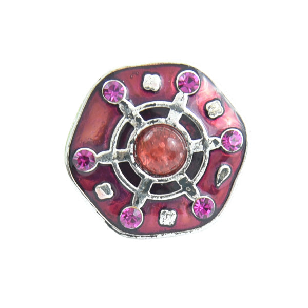 Ring - Metallring mit Vintage-Look in Rosa Farbe