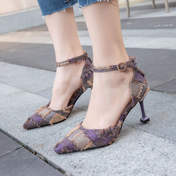 Summer Casual Pointed Toe High Heel Sandals