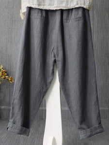 Plus Size Casual Pockets Pants Trousers