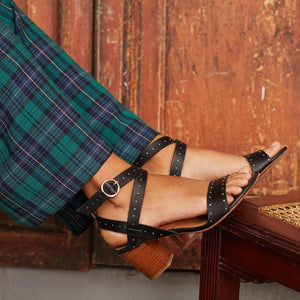 Women Chunky Heel Adjustable Buckle Working Sandals