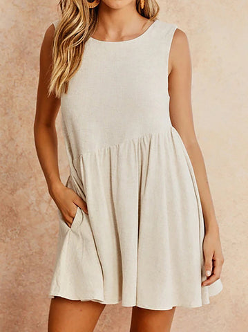 Basic Style Sleeveless Dress