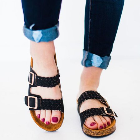 Casual Slip On Comfy Flat Sandals Slippers
