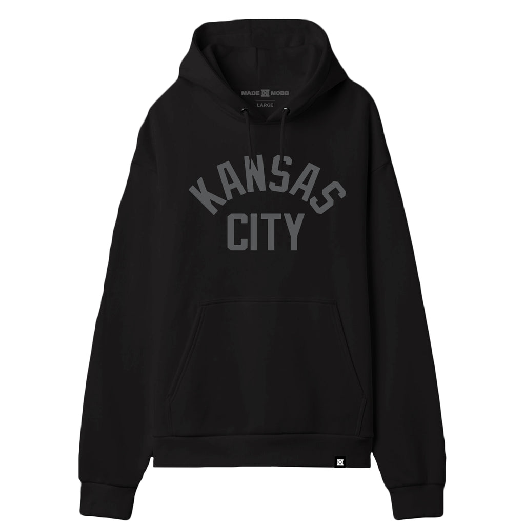 KC Original Black Hoodie - Reflective Ink