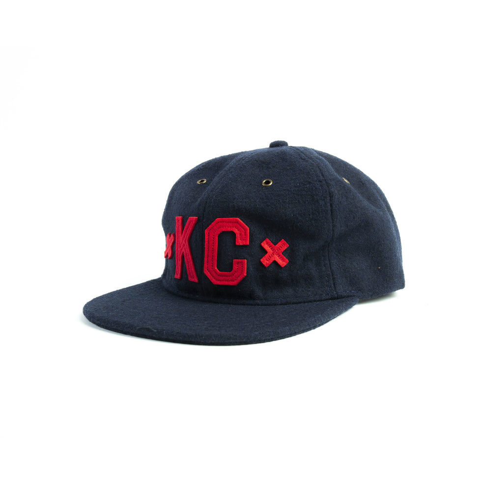Signature KC Wool Hat Red/Navy