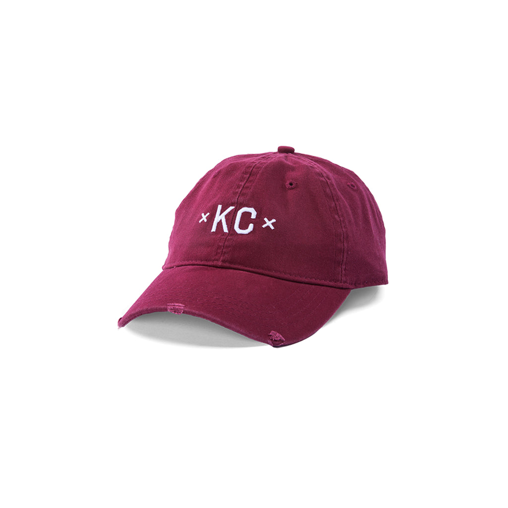 Signature KC Dad Hat - Burgundy
